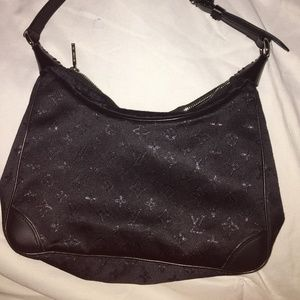 Louis Vuitton Paris black cloth Pochette(shoulder)